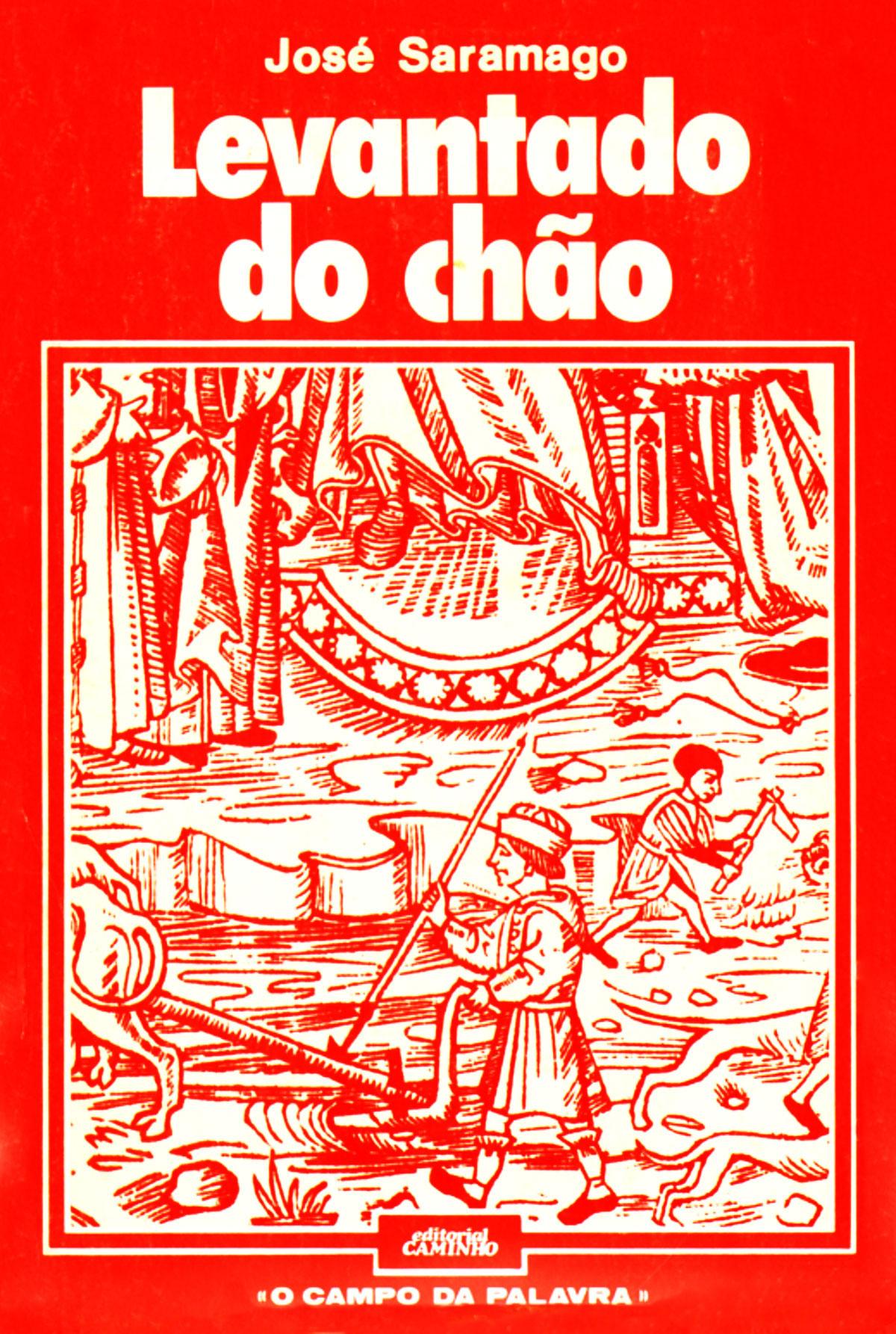 Capa da 1ª edição de Levantado do Chão, Caminho, 1980