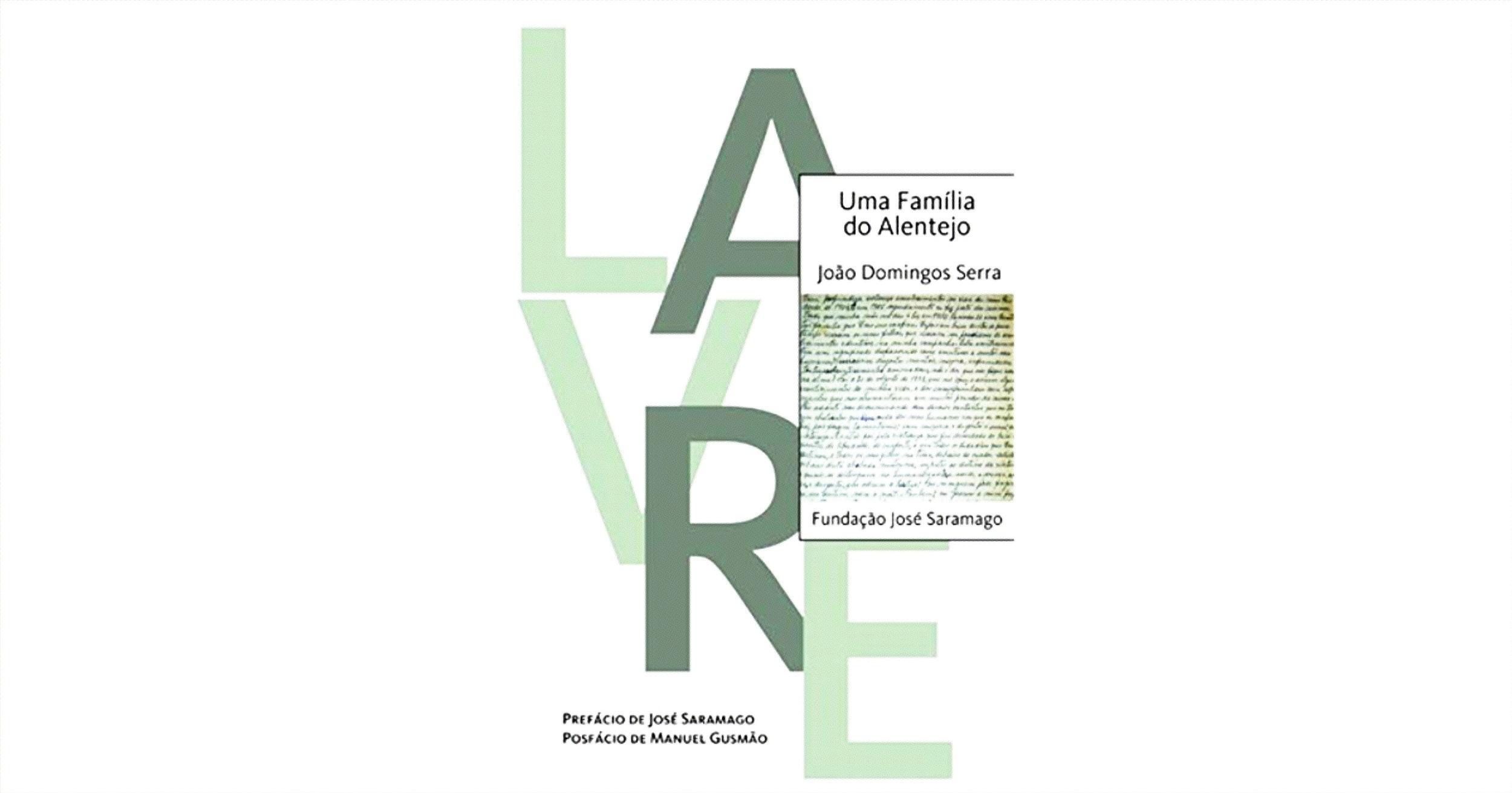Capa de Uma Família do Alentejo, João Serra, Fundação José Saramago, 2010