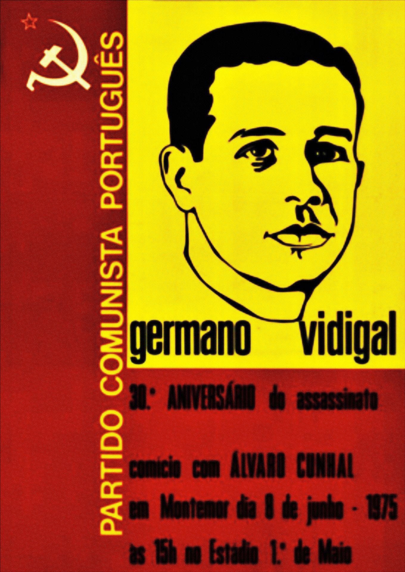 Cartaz da sessão evocativa dos 30 anos da morte de Germano Vidigal