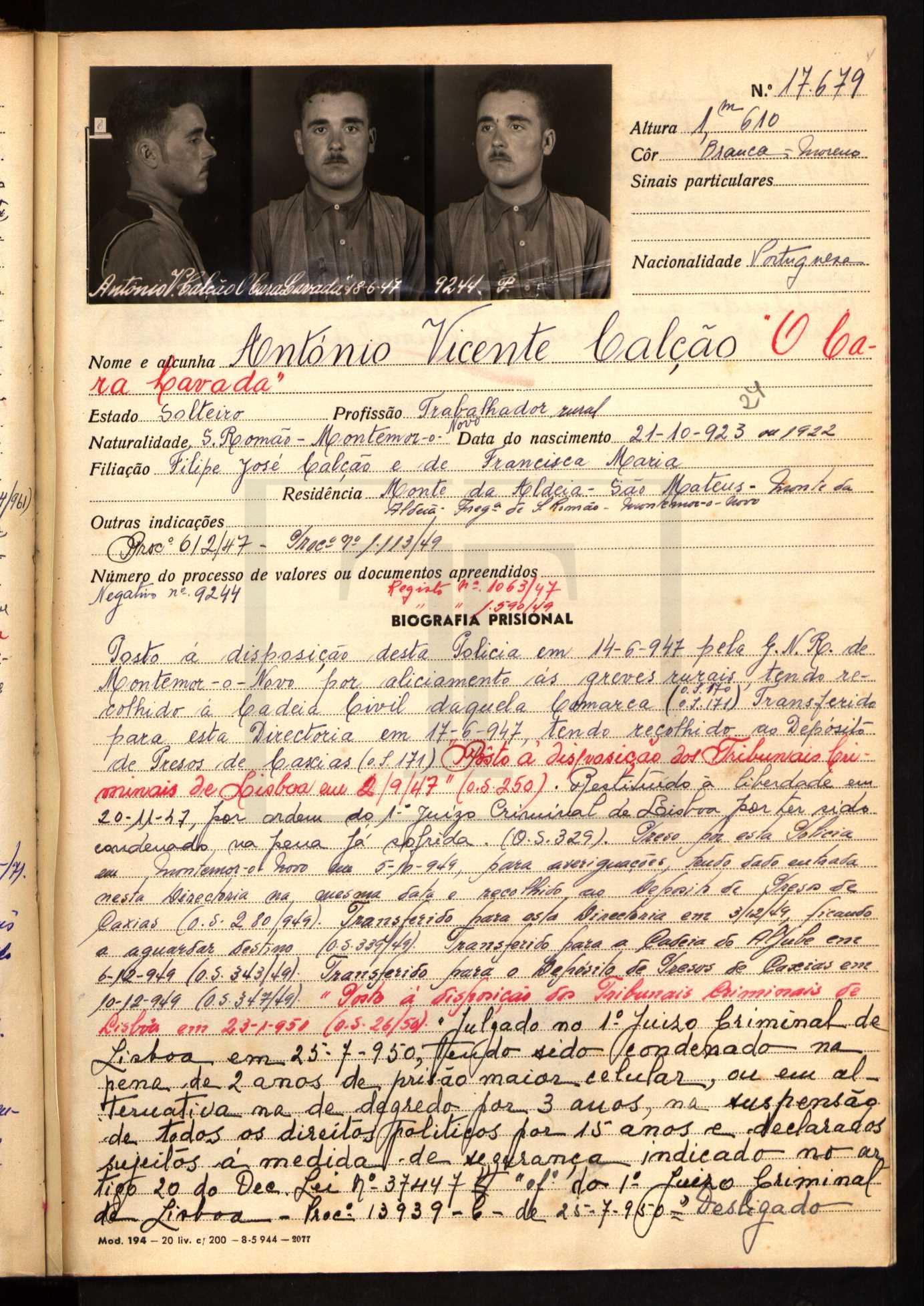 António Vicente Calção (digitarq.arquivos.pt)